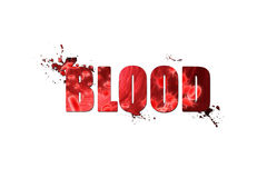 Art blood text effect with abstract design on white background Royalty Free Stock Photography