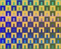 art blue checkerboard green ns op yellow Στοκ εικόνες με δικαίωμα ελεύθερης χρήσης
