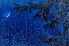 Art blue Christmas night background Royalty Free Stock Photo