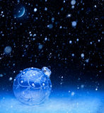 Art blue Christmas night Royalty Free Stock Photos