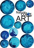 Art blue color button background Royalty Free Stock Image