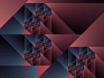 art blue cubist fractal one optical purple Στοκ εικόνα με δικαίωμα ελεύθερης χρήσης