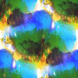 Art blue, green, yellow hand paint background Royalty Free Stock Photo
