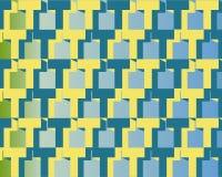 art blue homage op t to yellow Στοκ Φωτογραφία