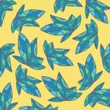 Art Blue Leaf Fotografia Stock Libera da Diritti