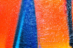 Art blue and orange paint extra sharp deep color pattern backgro Stock Image