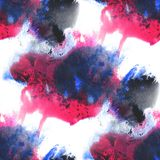 Art blue, red hand paint background seamless Stock Photography
