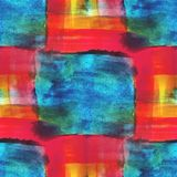 Art blue, red, yellow avant-garde background hand Stock Image