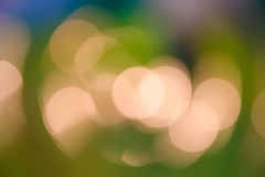 Art bokeh yellow lights  soft background Stock Photo