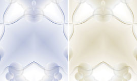 Art border frame. Set of two abstract border or frame Royalty Free Stock Images