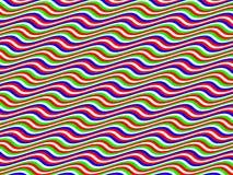 art br homage horizontal multicolor op to waves ελεύθερη απεικόνιση δικαιώματος