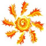 Art brash stroke splash paint isolated vector sun abstract background Royalty Free Stock Photos