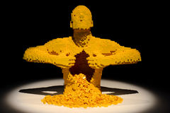 Art of the brick Stock Image