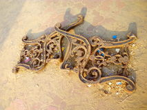 ART. BROKEN CHAIRE FROM PUBLIC BEACH PARK CALICUT MY CAMERA CAPTURING Royalty Free Stock Image