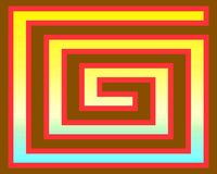 art brown gradient greeks op red yellow διανυσματική απεικόνιση