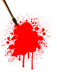Art brush with blood Royalty Free Stock Photos
