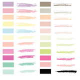 Art brush in chalk pastel 22 colors set vector for use in graphi Stock Photography