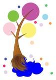 Art Brush in de vorm van boom. stock fotografie