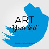 Art brush painted abstract background. Acrylic design illustration vector over square frame. Perfect watercolor design for headline, logo and sale banner royalty free illustration