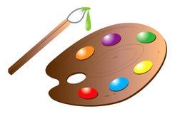 Art brush palette Stock Photos