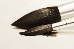Art brush retro style design Royalty Free Stock Photography