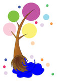 Art Brush sob a fôrma da árvore. Fotografia de Stock