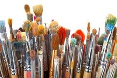 Art brushes. Art paint brushes on white background Royalty Free Stock Photos