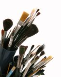 Art brushes. Tools of painters and artist - paint-brushes Stock Photography