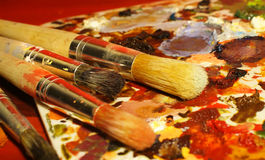 Art Brushes Arkivfoton