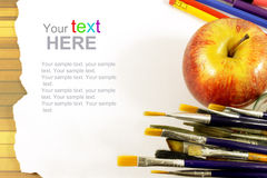 Art brushes with copyspace Royalty Free Stock Photography