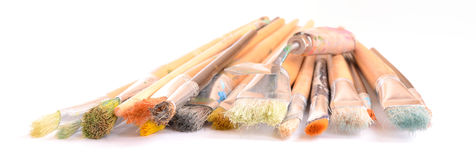 Art brushes on white Royalty Free Stock Photos