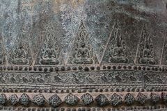 Ai bell in Buddhism Temple. An art of buddha craved on huge metal bell Royalty Free Stock Image