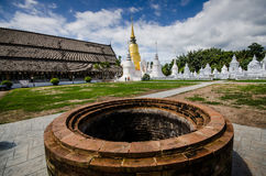 The art of Buddhism religion in the architectural. Royalty Free Stock Photo