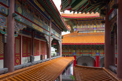 Art of building in Chinese temple Stock Photography