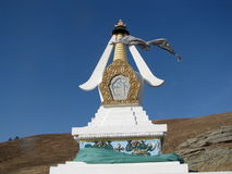 Art. Buryat statue for worship and a desire to fulfill the request royalty free stock photo
