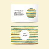 Art business cards. Vector watercolor set bannet. Colorful abstract texture. Vector design elements. Painterly background. Vector watercolor splash Vector Illustration