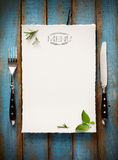 Art Cafe-de brochure van het menurestaurant Het malplaatje van het voedselontwerp Royalty-vrije Stock Fotografie