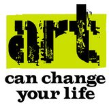 Art Can Change Your Life vector illustratie