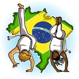 Art Capoeira marcial brasileño Imagenes de archivo