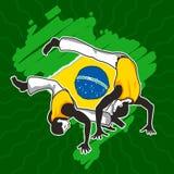 Art Capoeira marcial brasileiro Fotos de Stock Royalty Free