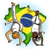 Art Capoeira marziale brasiliano Immagini Stock