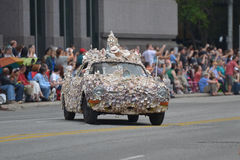 Art car. The 2014 Houston Art Car Parade saw attendance numbers of nearly 300,000 along Allen Parkway, making it one of the largest free events in Houston, and stock photos