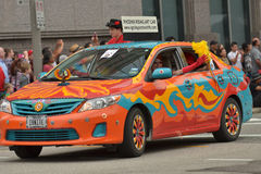 Art car. The 2014 Houston Art Car Parade saw attendance numbers of nearly 300,000 along Allen Parkway, making it one of the largest free events in Houston, and Stock Photography