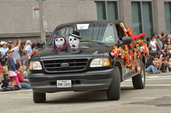 Art car. The 2014 Houston Art Car Parade saw attendance numbers of nearly 300,000 along Allen Parkway, making it one of the largest free events in Houston, and Stock Images