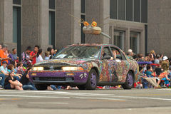 Art car. The 2014 Houston Art Car Parade saw attendance numbers of nearly 300,000 along Allen Parkway, making it one of the largest free events in Houston, and Royalty Free Stock Images
