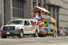 Art car. The 2014 Houston Art Car Parade saw attendance numbers of nearly 300,000 along Allen Parkway, making it one of the largest free events in Houston, and Royalty Free Stock Photography