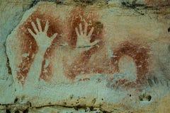 Art Carnarvon Gorge aborigeno fotografia stock libera da diritti