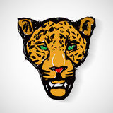 Art cartoon tiger head Stock Images