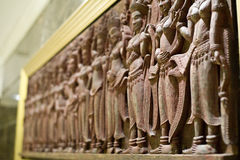 art of carve in angkor style of asia is the architecture ancient Stock Image