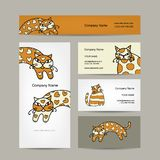 Art cats. Business cards design Stock Images